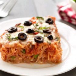 Spagetti pizzás pite